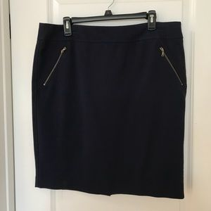 Ann Taylor navy pencil skirt